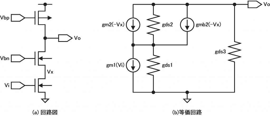 カスコード型ソース接地増幅器